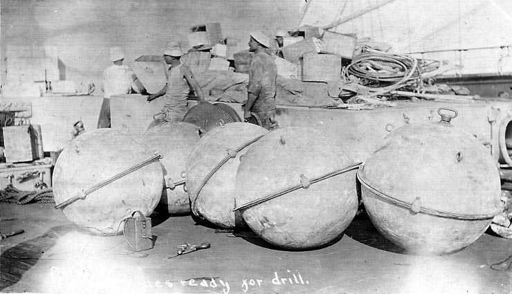 These May Be Naval Blockade Mines On An Unidentified Us