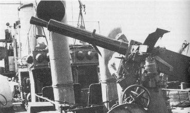 40 mm 39 vickers terni model 1915 on unidentifieditalian torpedo boat